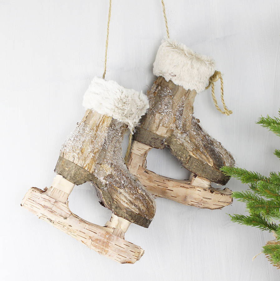 ice skates christmas decoration