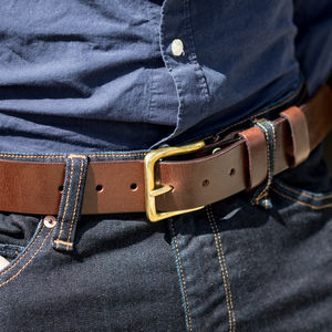 Personalised Dartington Leather Belt