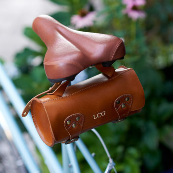 Leather Bike Saddle Bag