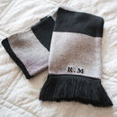 Personalised Initials Scarf
