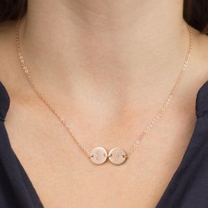 Personalised Double Disc Necklace - gifts for friends