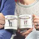 Personalised Wedding 'Mr And Mrs' Welly Boot Mugs