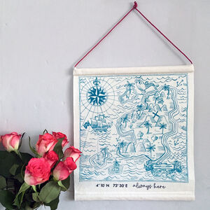 Treasure Island Personalised Valentine Banner