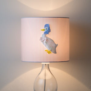 Jemima Puddle Duck™ 3D Pink Nursery Lampshade - lamp bases & shades