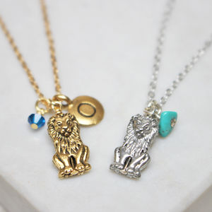 Lion Charm Necklace - necklaces & pendants