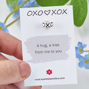 Hugs And Kisses Solid Silver Mojo Charm
