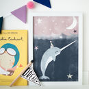 Narwhal's Birthday Children's Nursery Print