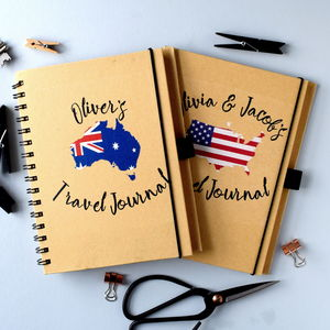 Personalised Country Flag Travel Journal