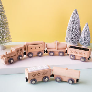 Personalised Wooden Train Set - gifts for children