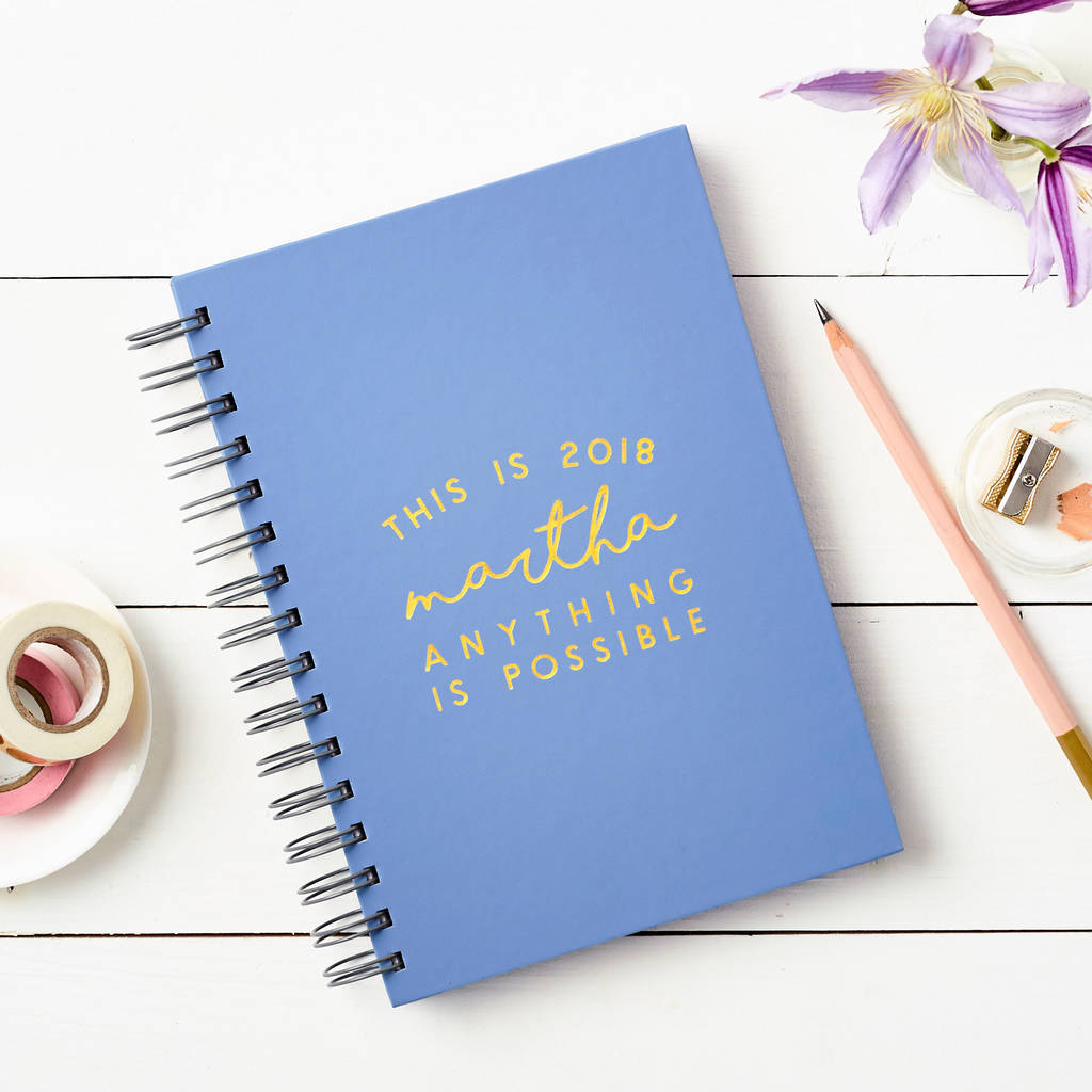 Personalised 'This Is 2018' Weekly Diary