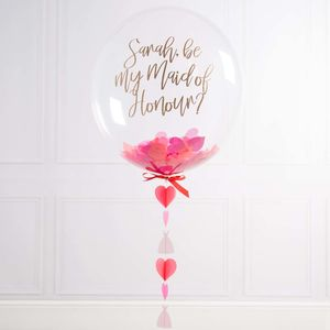 'Will You Be My Maid Of Honour?' Bubble Balloon