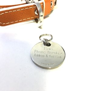 Engraved Nickel Plated Pet Tag
