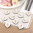 Wooden 'Mr And Mrs' Wedding Favour Hearts