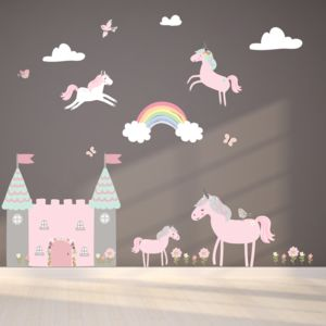 Unicorn Fabric Wall Stickers - sale