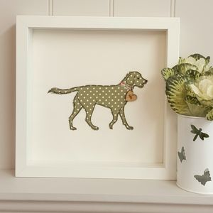 Personalised Golden Retriever Framed Artwork - pet portraits