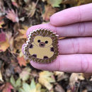 Sending Hedgehugs Hedgehog Enamel Pin Badge