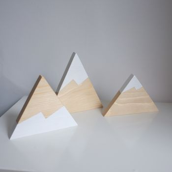 Set Of Three Wooden Peaks