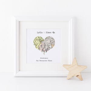 Favourite Map Location Framed Print