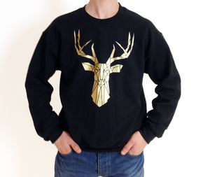 Unisex Geometric Stag Sweater