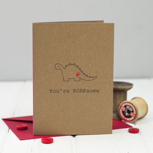 'You're Roarsome' Card - wedding, engagement & anniversary cards