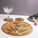 Tulips Coasters And Placemats Dinner Tableware Set