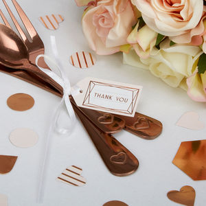 Blush Rose Gold Thank You Tags - wedding favours