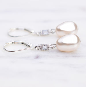 Deco Inspired Pearl Drop Earrings