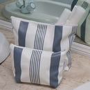 Striped Water Resistant Wash Bags And Make Up Bags