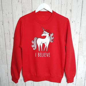 'I Believe' Women And Kids Christmas Jumper