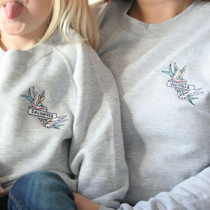 Mummy And Me Swallow Badge Sweatshirts