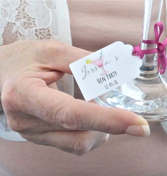 Hen Party Personalised Favour Tags
