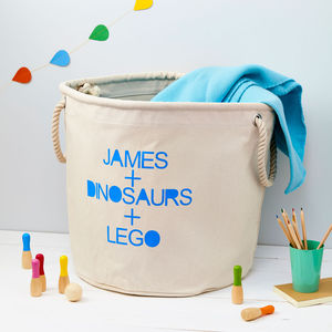 Child's Personalised Toy Storage Bag - personalised