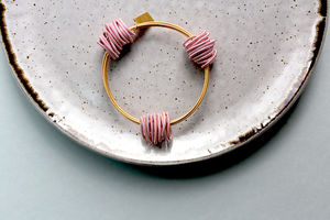Pink Coiled Wire Neptune Bangle