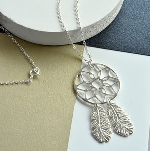 Handmade Sterling Silver Dreamcatcher Necklace