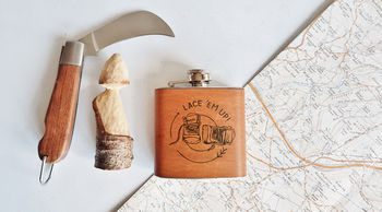 Hiking Leather Hip Flask