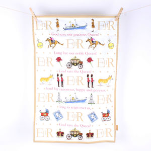 God Save The Queen! Tea Towel