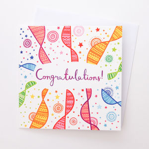 A Bright Patterned Congratulations Card