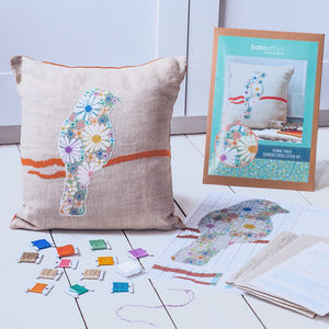 Floral Finch Cross Stitch Cushion Kit - what's new