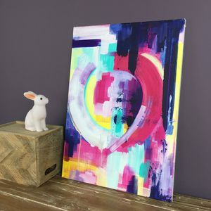 'Heartfelt' Contemporary Abstract Handpainted Canvas - paintings