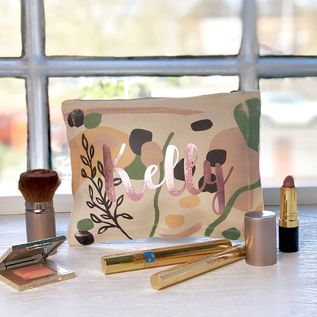 Personalised Blob Print Make Up Bag