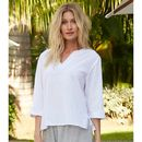 Maldivas Cotton Blouse White
