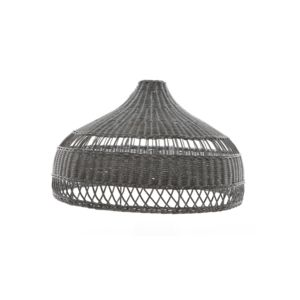 Dark Grey Woven Rattan Pendant Shade - summer sale