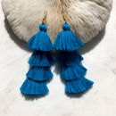 Tassel Earrings In Ocean