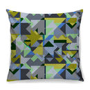 Cool Greys Geometric Cushion + Waterproof