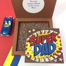 Personalised Super Hero Superdad Chocolate For Dads