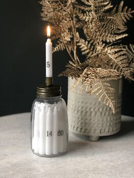 Personalised Advent Candle Set