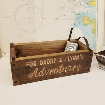 Personalised Engraved Wooden Crate