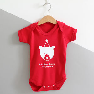 Baby Bears 1st Christmas, Baby Grow