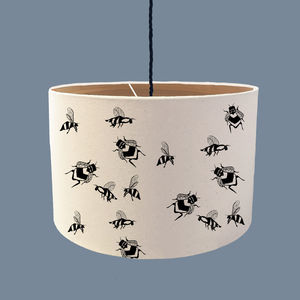 Animal Lampshade With Wood Lining - lampshades