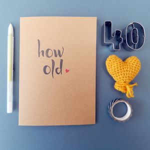 How Old Card